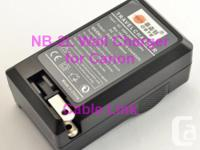 Battery Charger NB-2L for Canon Rebel, PowerShot G7 G9
