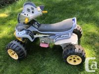 Good used condition, 2 speeds, battery charges well.