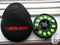 Bauer M6 Super Lite Fly Reel. 11/12 Skaget head with