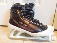 Bauer supreme one100 goalie skates. Size 7.5EE. Used