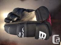 Purchased used, right glove has some wear marks on the