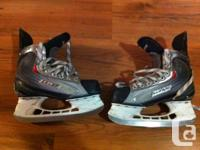 one pair of bauer x60 jr hockey skates size 5.  they