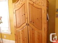 "48'Wx24""Dx831/2"" Tall custom made armoire with built in"