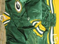 Jacket is shiny satin material in excellent to