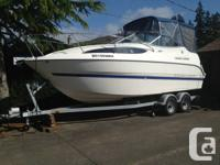 2007 Bayliner 245 cruiser, purchased new in 2008. Only