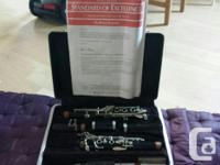 Bb flat Bundy clarinet, used in highschool band for a