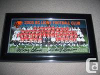 I am selling 2 BC Lions Team photos from 2004 and 2005