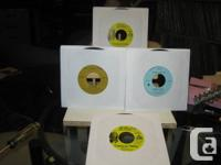 Four (4) 45 RPM records including 2 duplicate copies of