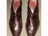 Excellent condition - tooled leather (leather upper &