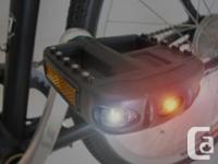 Pedalite LED pedals light up when you pedal, as well as