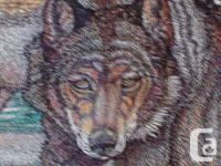 FRAMED POINTILLISM ART WORK BY LOCAL DUNCAN ARTIST JOHN
