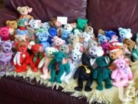 Various Beanie Babies Bears  All in excellent