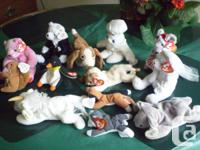 FOR SALE  Beanie Babies Collection, 13 pieces, mint