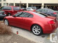 Hello,  I have a 2003 Infiniti g35 coupe for sale.I had