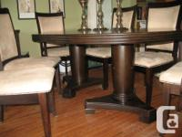 Beautiful sideboard and 7-piece dining set in Espresso