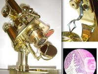 Serial number suggests this microscope is 112 years