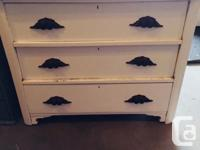 Beautiful solid wood dresser with original wooden