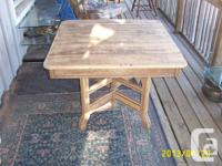 "Solid Wood  Antique Table Made by ""Malcolm & Souter"" in"