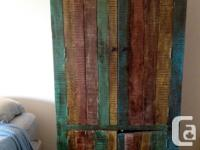 Beautiful large armoire. Made from reclaimed wood, with