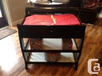 This crib and change table is a beautiful set. Coverts