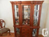 Elegant and beautifully wood decorated Buffet Hutch
