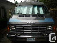 We are seling our 20 foot lengthy 1988 Dodge Campervan