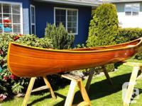 16 ft. Cedar strip canoe with fiberglass reinforcement