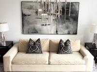 Comfortable oversized sofa in excellent condition. The