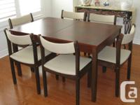 Beautiful dining room set.  Very solid and in excellent