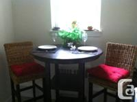 Beautiful pub height (42 in) dining set for sale!   The