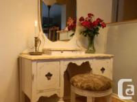 Standing Mirror/Dressing Table/Vanity Combination. This