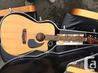Beautiful Fender Acoustic Electric Guitar  Model AG25N