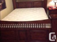 Queen Size Bed, Mattress in Excellent Clean Condition,