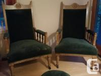 Moving so these chairs must go. Comes with a matching