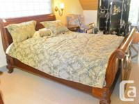 I have a very beautiful, high-end mahogany sleigh bed.