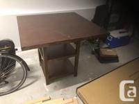 Perfect table and four chairs for your kitchen nook or