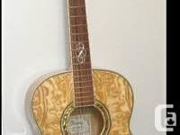 Full size Ibanez acoustic guitar! Beautiful tiger maple
