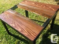 Beautiful live edge red cedar river dining table.