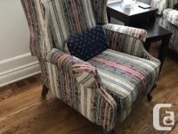 Two beautiful reclining chairs for sale! Designed and