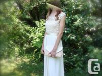 Exquisite lace top with ivory lined flowing skirt has a for sale  British Columbia