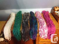 For sale, hand knit infinity scarves! Perfect gift for
