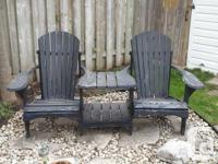 BEAUTIFUL PRE-OWNED SET OF MUSKOKA CHAIRS FOR SALE.