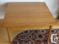 Gorgeous solid oak coffee and 2 end tables in a light
