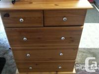 THIS IS LIKE A BRAND NEW DRESSER ,SOLID PINE ,MEASURES