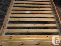 THIS IS A VERY BEAUTIFUL SOLID PINE SINGLE BED WITH