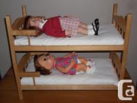 I have for sale a beautiful solid wood bunk bed for18""