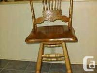 For sale is a tall Swivel/Bar chair (can be good for