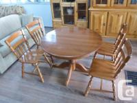 beautiful solid wood table & chairs made in canada in