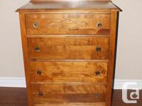Refinished 4 cabinet birch cabinet. Spick-and-span,