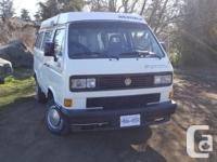 *Price in USD* I am selling my 1988 Syncro Westfalia.